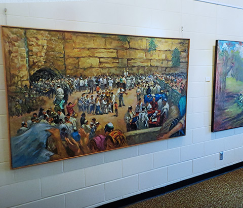 """""""The Wall in Jerusalem"""" by Miriam McClung. Oil on linen."""