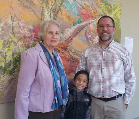 """""""Way of the Cross"""" show sponsored by INSPERO at Oak Mountain Presbyterian Church in Birmingham, Alabama. Miriam McClung with grandson Levi and son Frank pictured."""