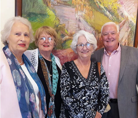 Pictured left to right: Miriam McClung, Patsey Chaney, Kathy Edwards, Tim Edwards